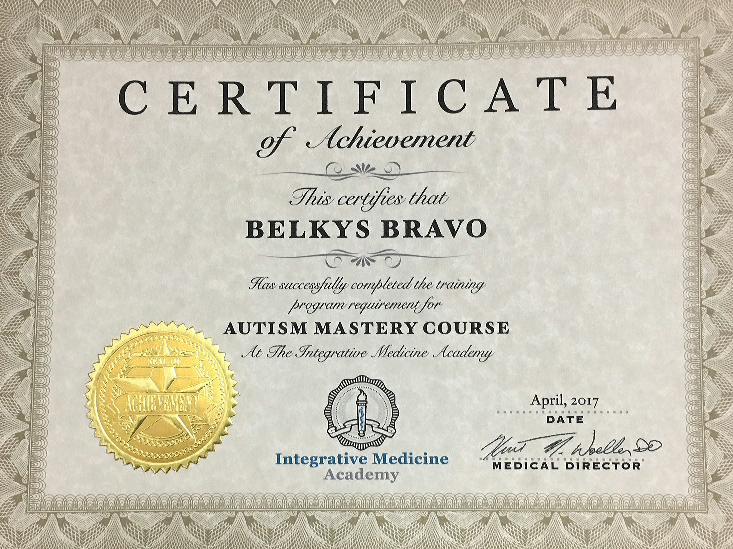 Dr belkys bravo video medical home certification autism mastery certificate 1betcityfo Gallery